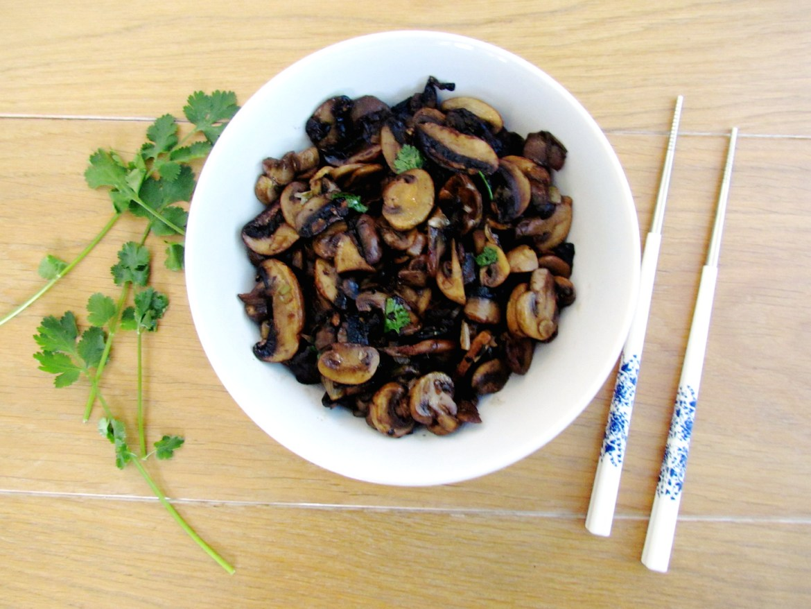asian stir-fried mushrooms