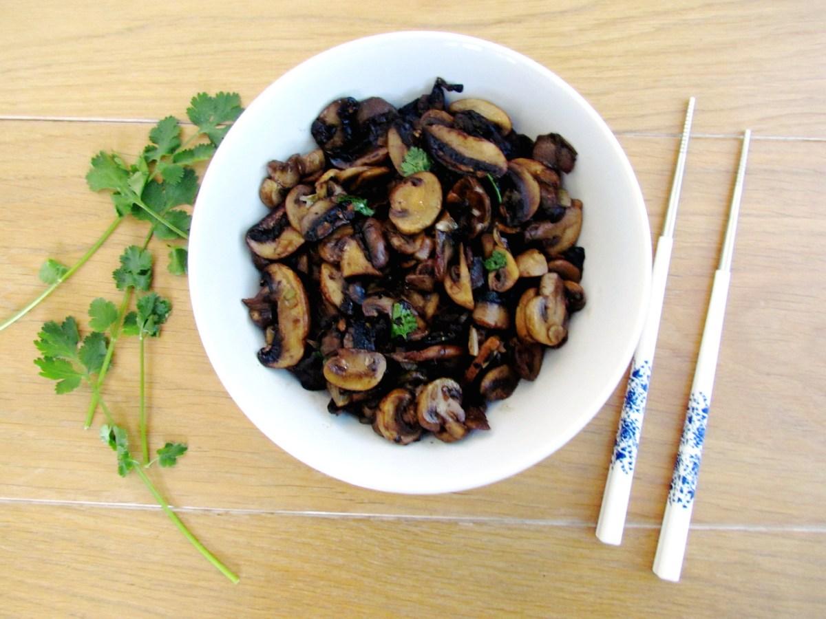 asian stir-fried mushrooms