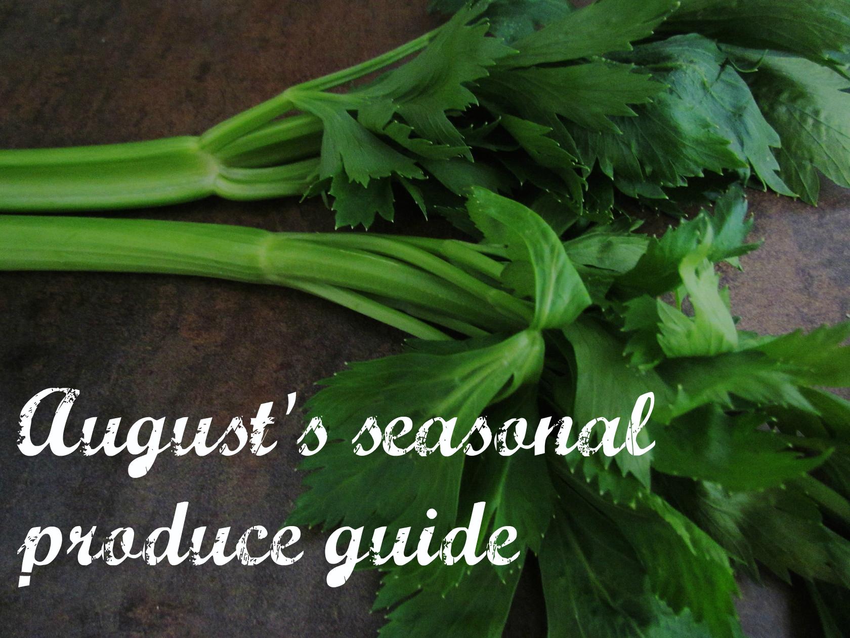 seasonal produce guide for switzerland: august