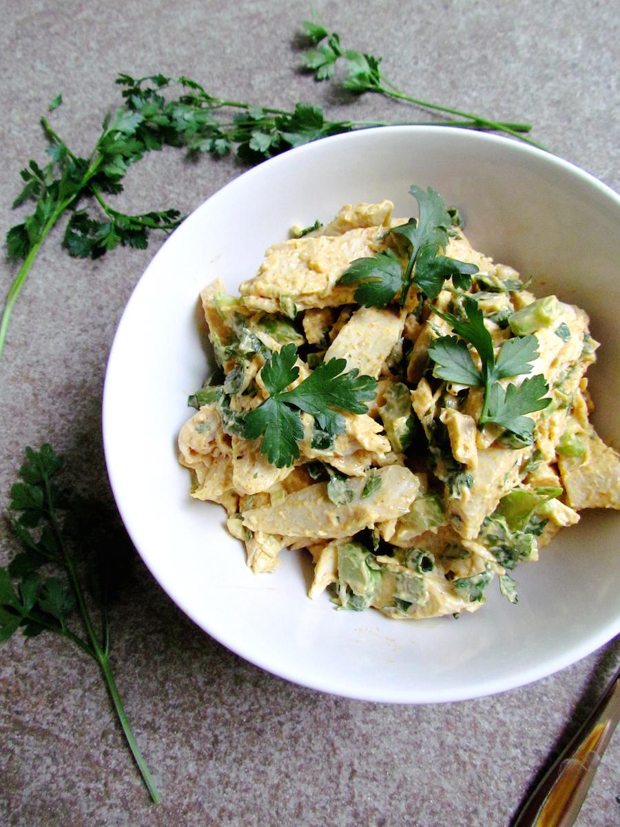salade de poulet et céleri à la mayonnaise