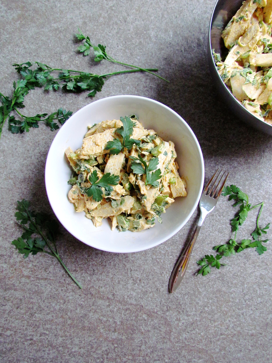 chicken celery salad with spiced mayonnaise | www.savormania.com