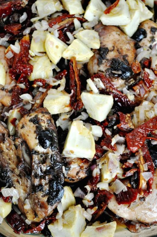poulet rôti aux artichauts et tomates séchées   www.savormania.com