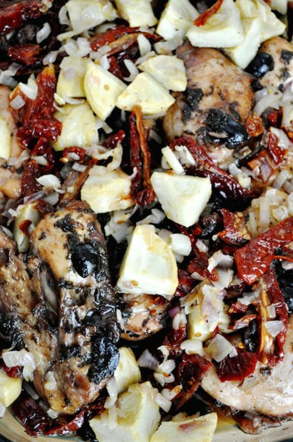 poulet rôti aux artichauts et tomates séchées | www.savormania.com