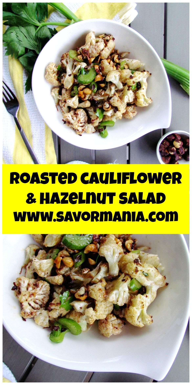 roasted cauliflower and hazelnut salad  | www.savormania.com