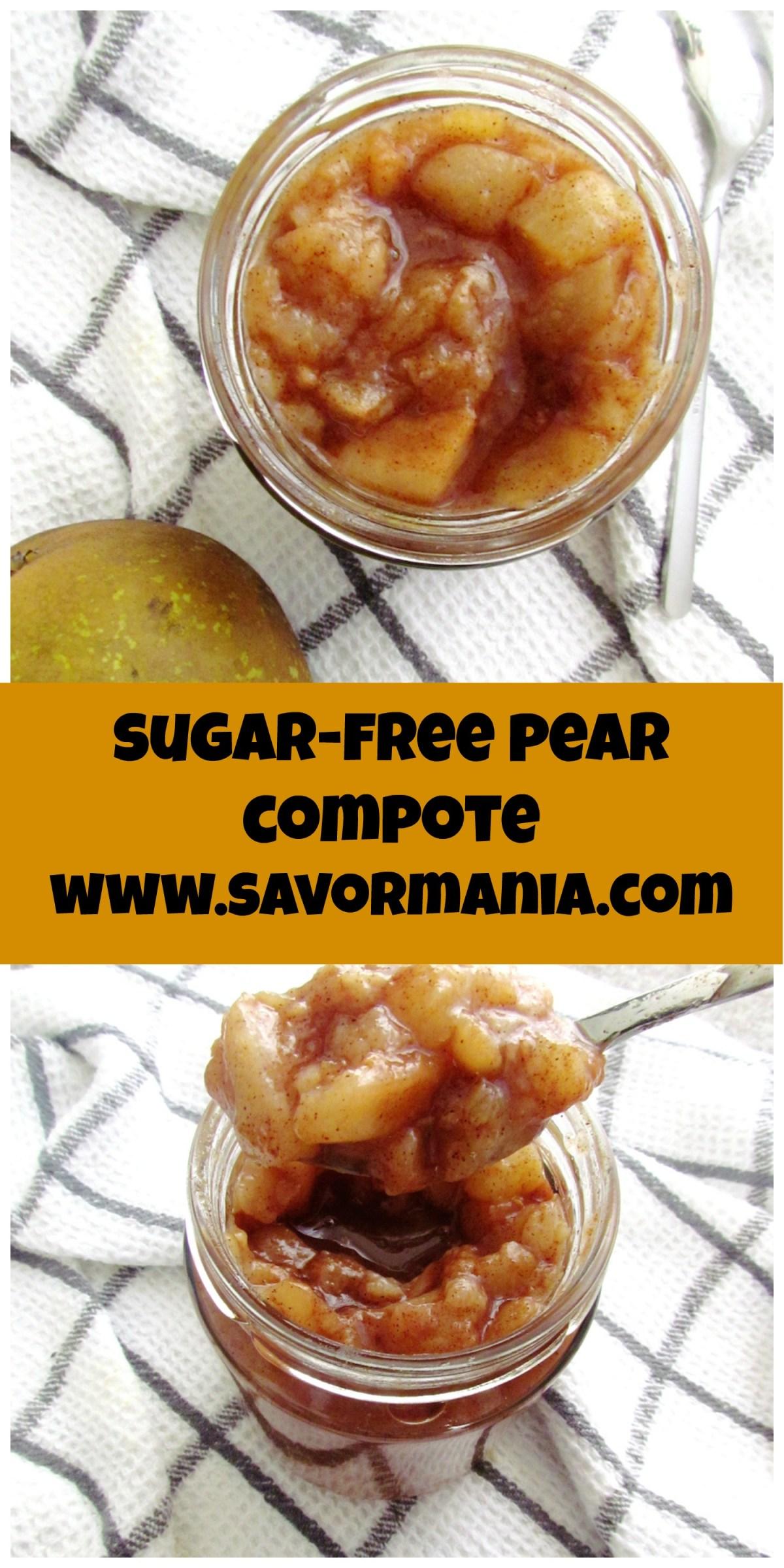 sugar-free pear compote