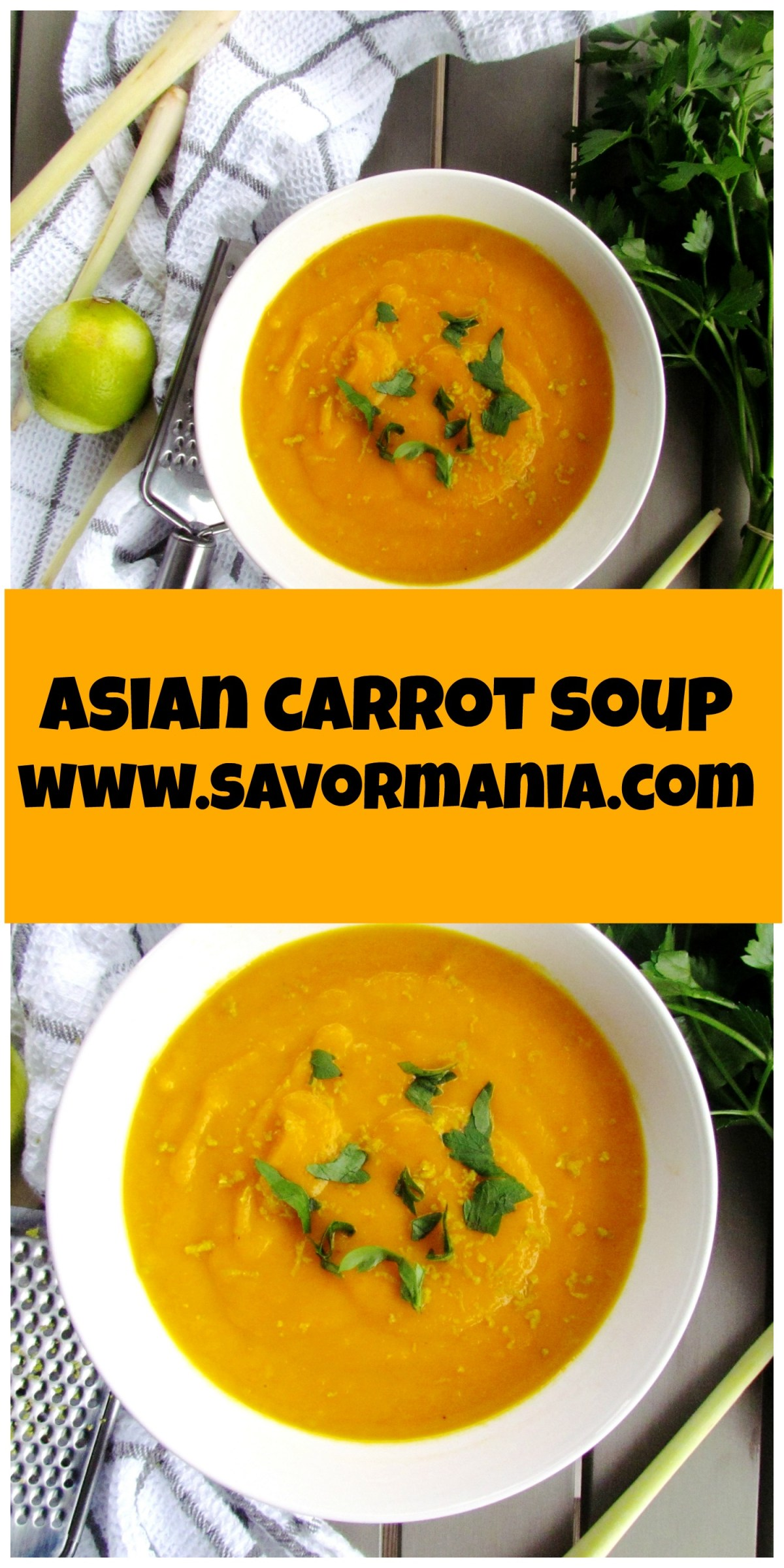 asian carrot soup | www.savormania.com