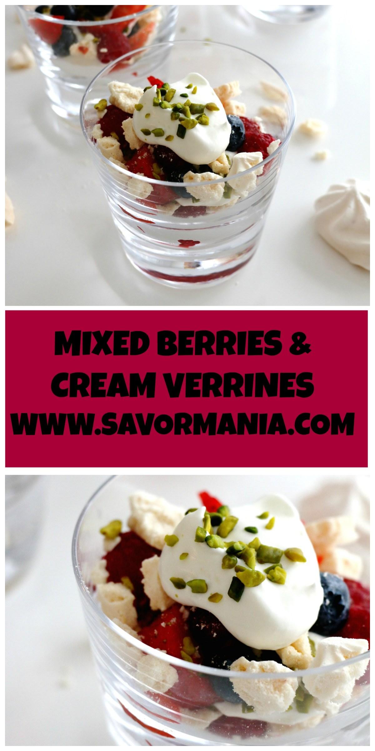 mixed berries & cream verringes | www.savormania.com