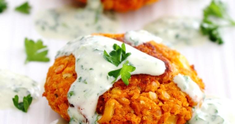 sweet potato and lentil burgers
