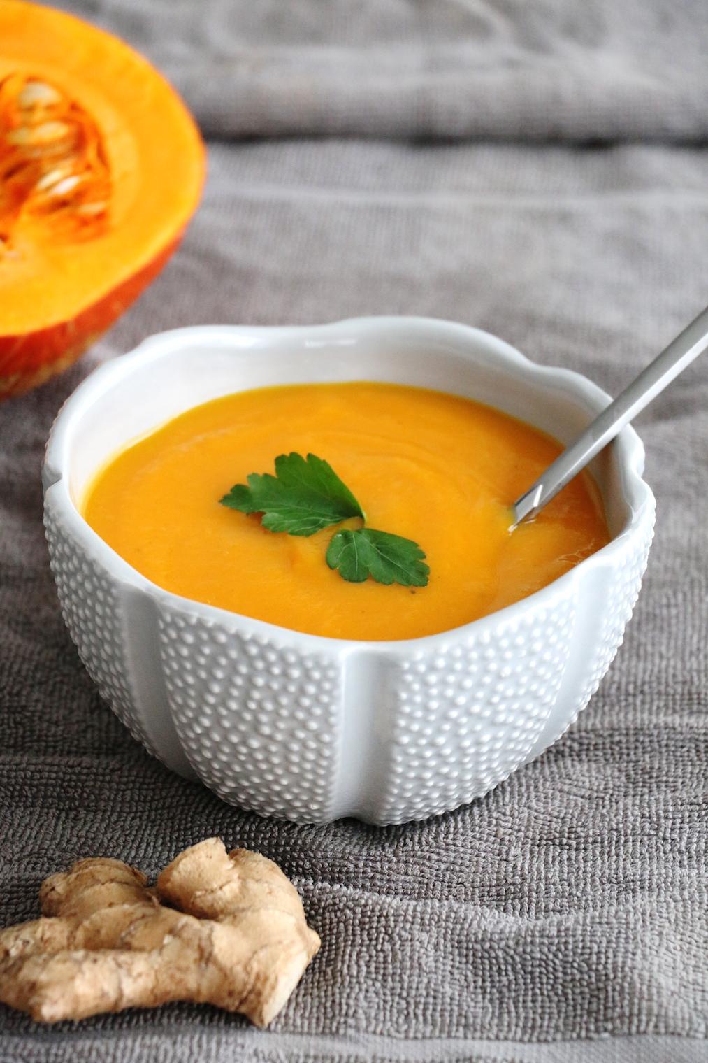 ginger winter vegetable soup