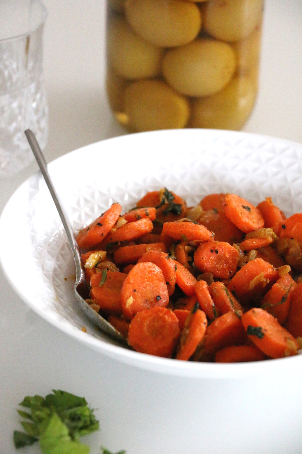 moroccan spiced cooked carrot salad
