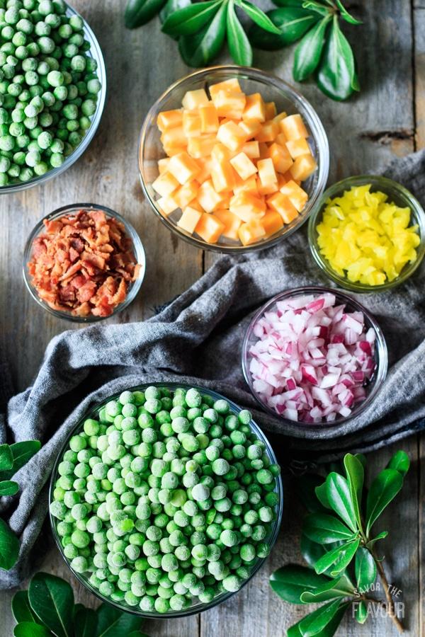 salad ingredients for pea salad