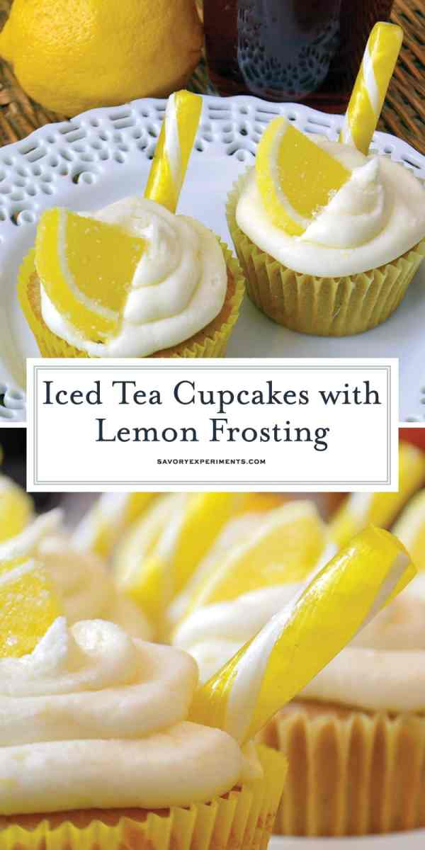 Iced Tea Cupcakes With Lemon Frosting Amazing Lemon Cupcakes