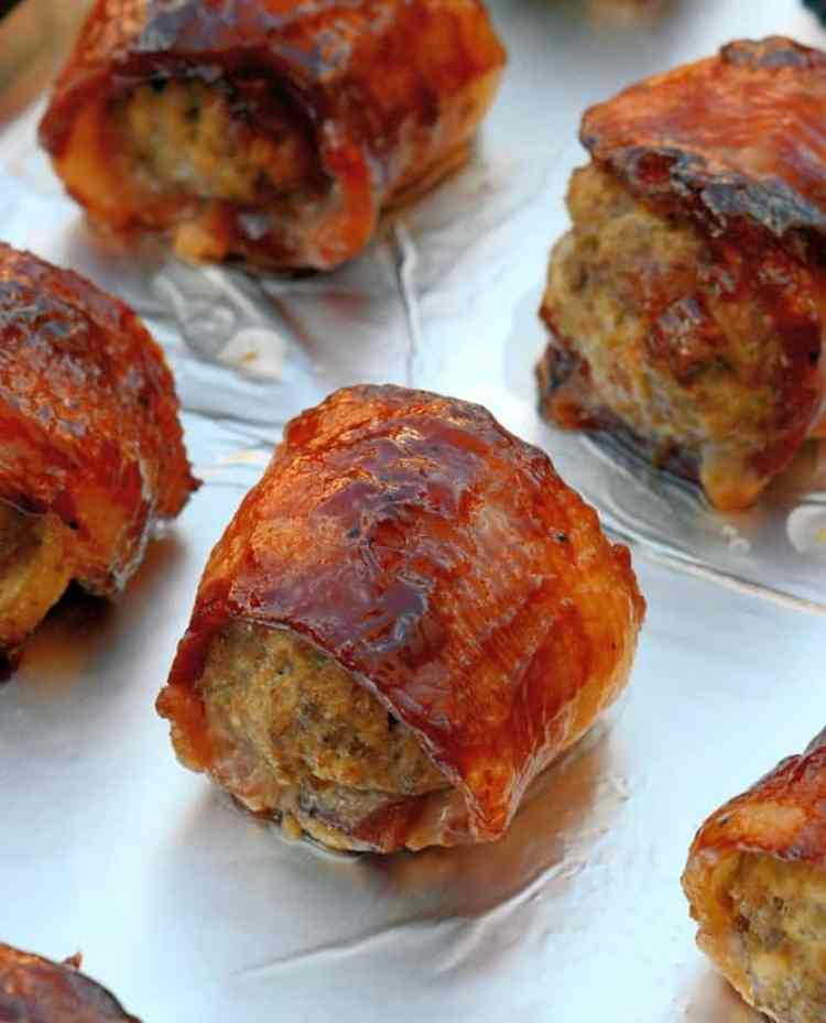 The Best Game Day Recipes – BBQ Bacon Wrapped Meatballs