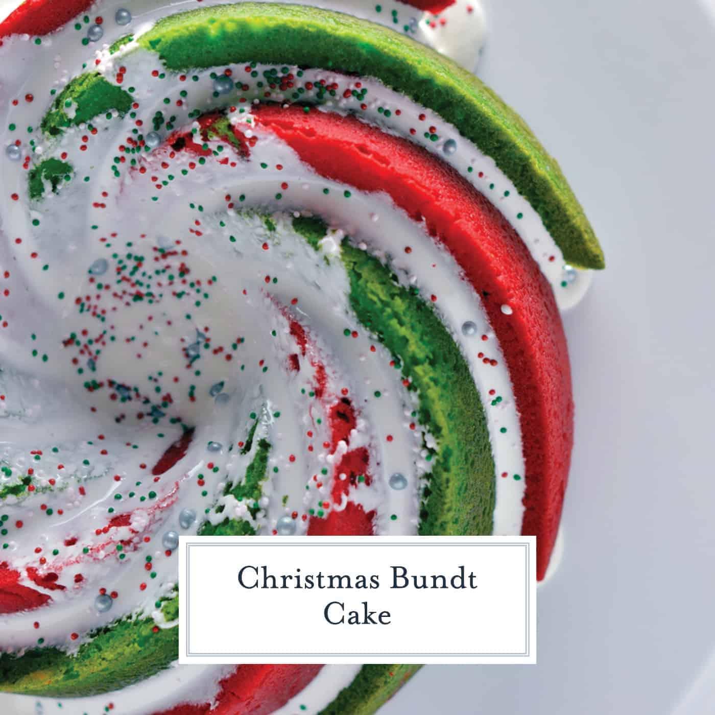Swirl Bundt Christmas Recipe Cake