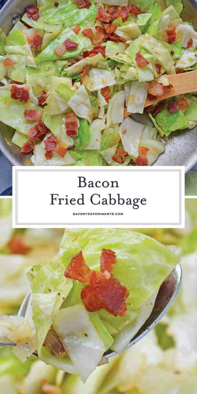 Bacon Fried Cabbage   Southern Style Fried Cabbage with Bacon