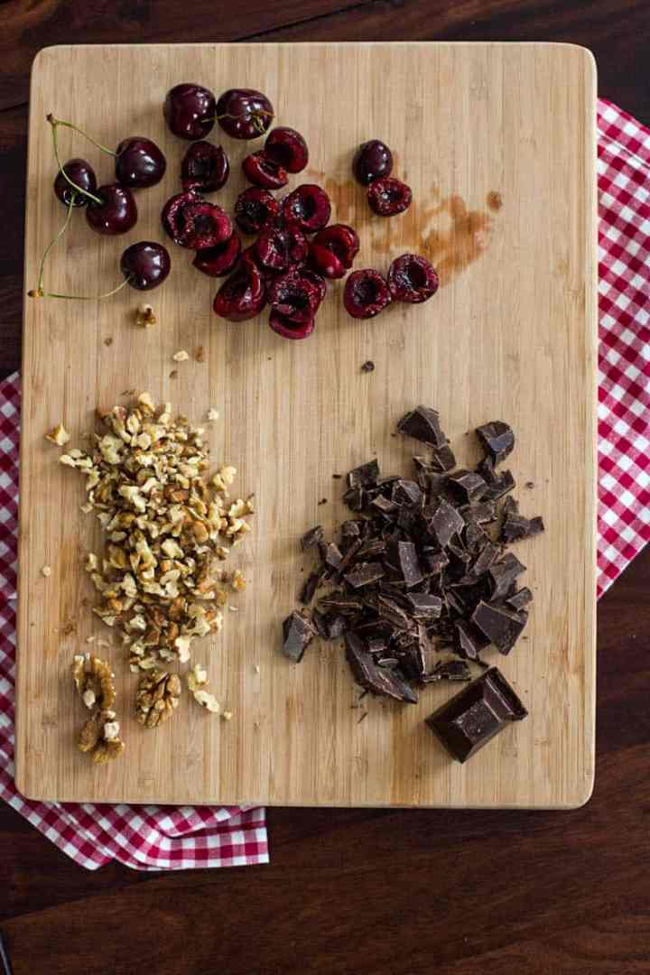 ingredients for low carb cherry brownie cake
