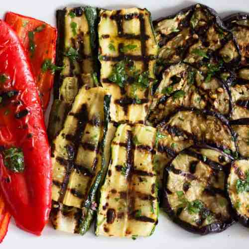 These tasty grilled and marinated vegetable antipasti are perfect for your next summer BBQ!