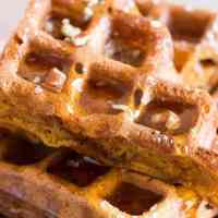These simple homemade pumpkin waffles definitely need to happen in your waffle maker this autumn!