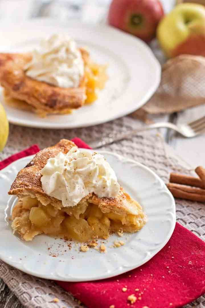 This homemade apple pie recipe has the most delicious fresh apple filling made from scratch! It's Sam Sifton's take on the Thanksgiving classic on the dessert table and while he keeps it simple and traditional your guests will definitely declare this as the best pie they ever had!
