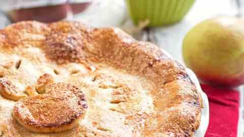 apple pie on a festive table