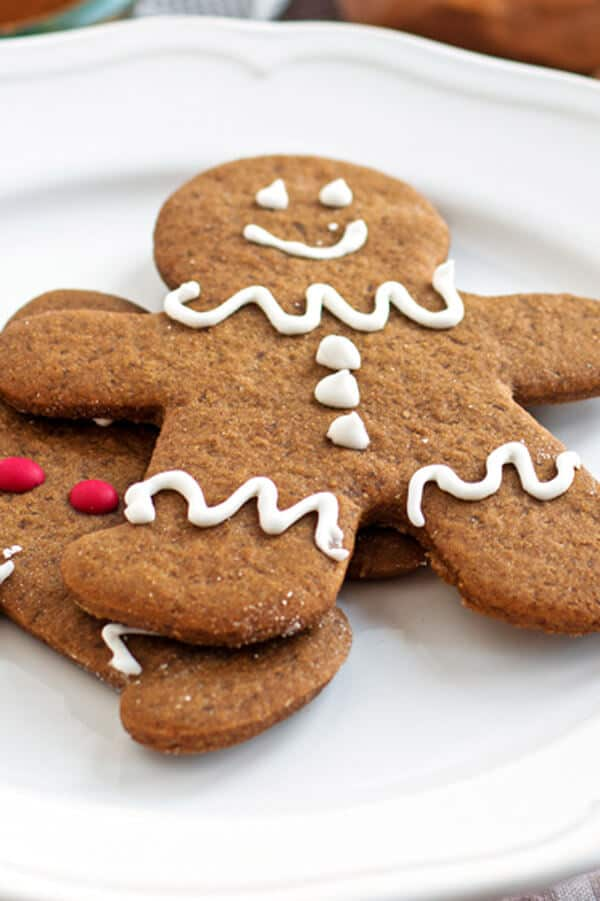 The homemade dough for these perfect soft gingerbread cookies is simple to put together so you have more time to add cute icing or frosting decorations to the gingerbread men with the kids!
