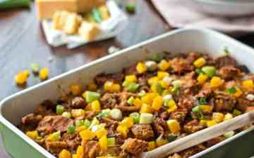 You will love this overnight breakfast casserole because it's so easy to make ahead! Full of flavor with lots of melty cheese and sausages! Make this for Christmas morning and your family will tell you it's the best breakfast they ever had!