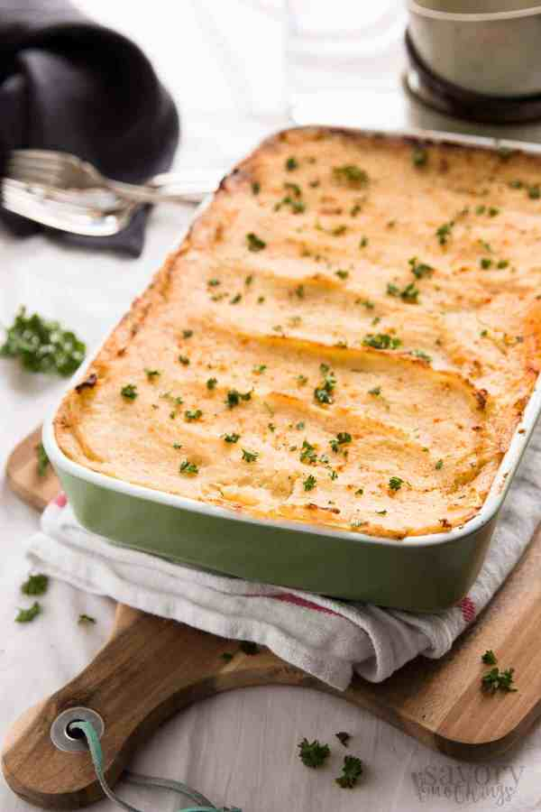 Sneak extra veggies into your family's diet with this Veggie Loaded Easy Cottage Pie. It's simple to prepare and even tastes great as leftovers the next day. | savorynothings.com