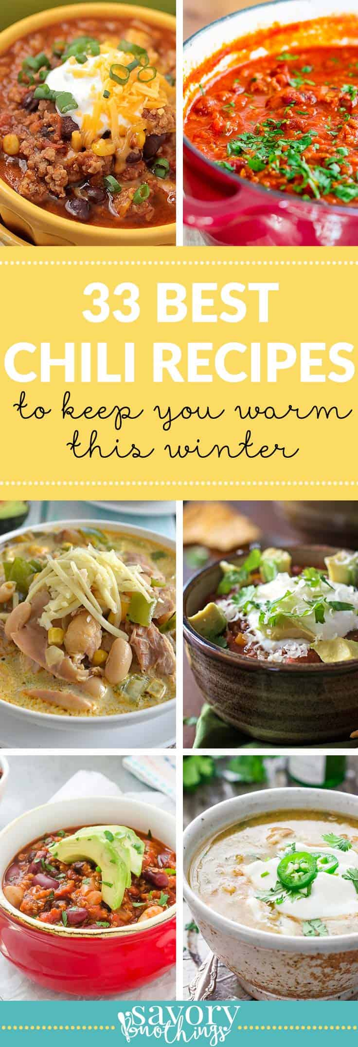 Who doesn't love a big pot of hot chili on a cold winter night? These are some of the best chili recipes from around the internet!