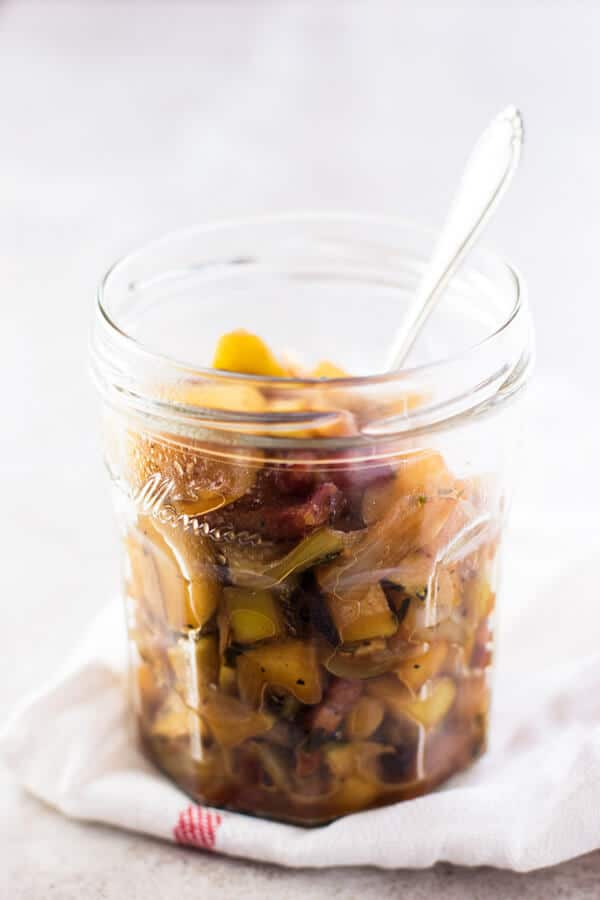 Apple Bacon Compote for Oven Roasted Pork Tenderloin