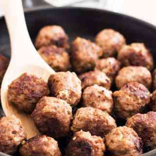 How to make meatballs from scratch, including freezer instructions.