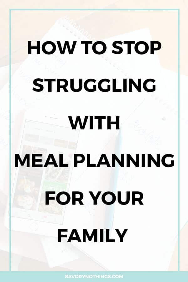 pin collage for meal planning post