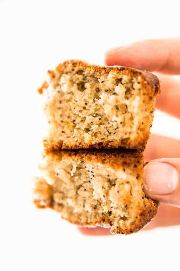 Healthy lemon poppy seed muffins are made with greek yogurt. A light breakfast treat!