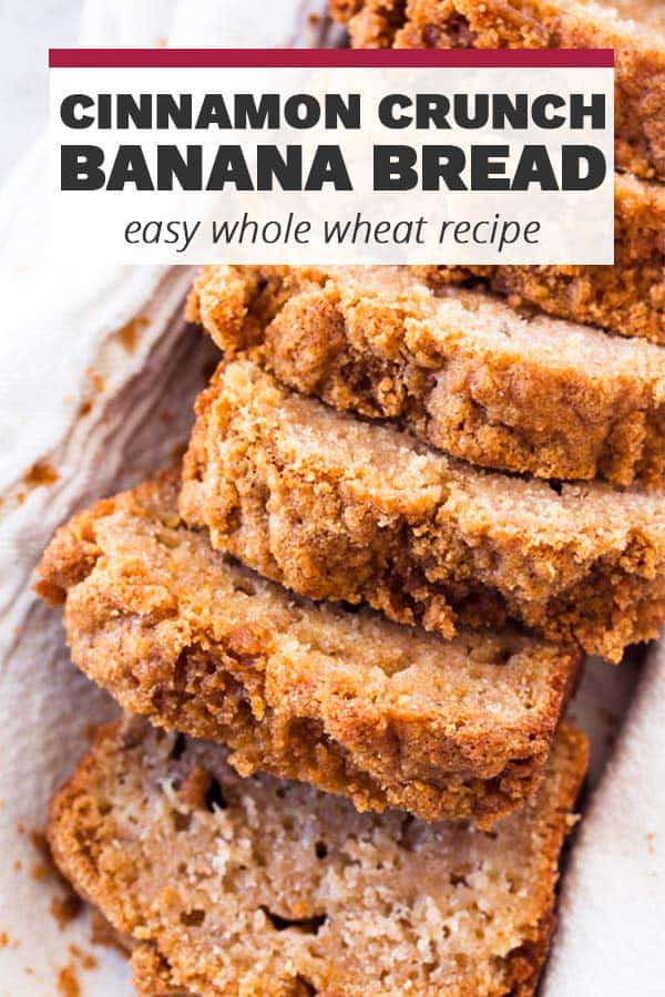 Cinnamon Crunch Banana Bread Pin 1
