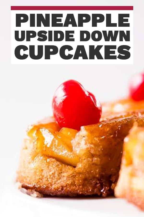 Pineapple Upside Down Cupcakes Pin 1