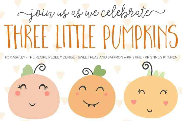 Three Little Pumpkins Baby Shower Image