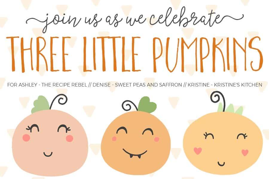 Three Little Pumpkins Baby Shower Image