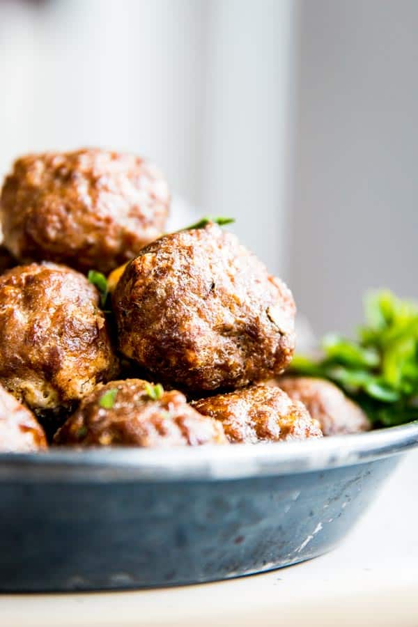 Oven baked meatballs are so easy to make!