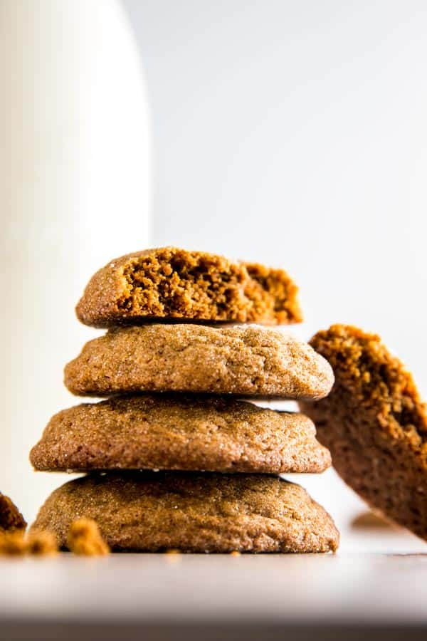 It wouldn't be Christmas without gingery and soft molasses cookies! They are so quick and easy to make, taste amazing and are perfect for a last minute cookie exchange addition.