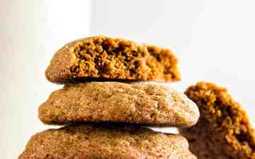 close up photo of molasses cookies