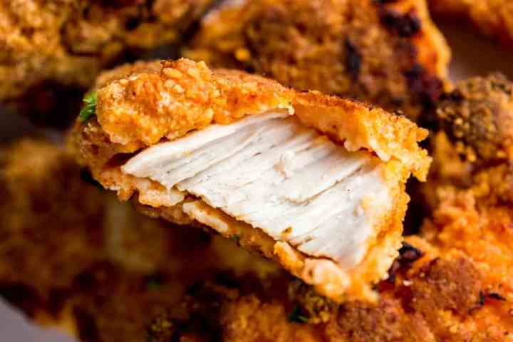 Horizontal image for buttermilk oven fried chicken.