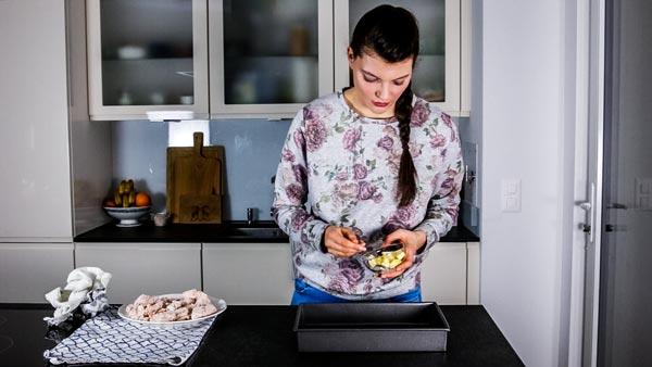How To Make Buttermilk Oven Fried Chicken: Melt butter in baking pan