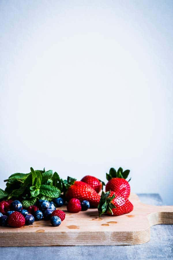 Berries fro fruit salad.
