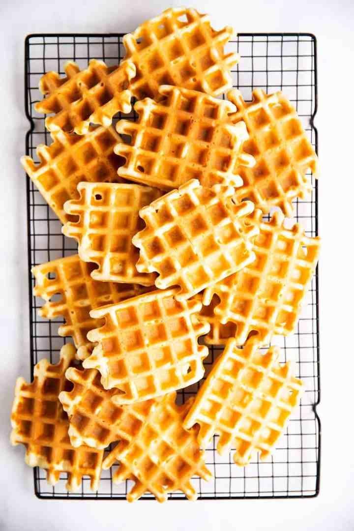 waffles on cooling rack