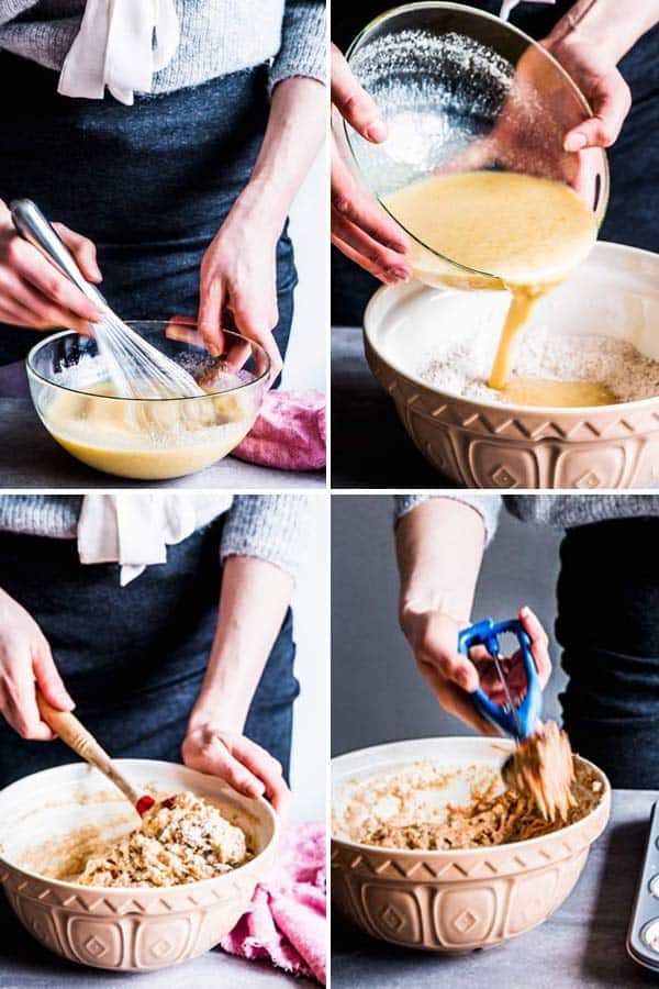 Collage tutorial for how to make muffins