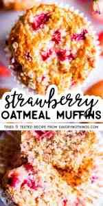 Strawberry Oatmeal Muffins Pin
