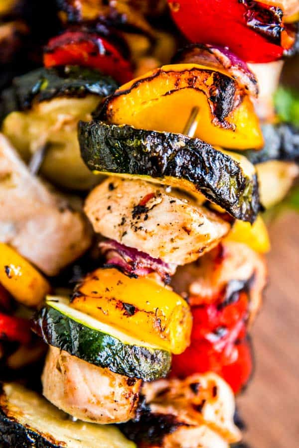greek chicken kabob from the grill