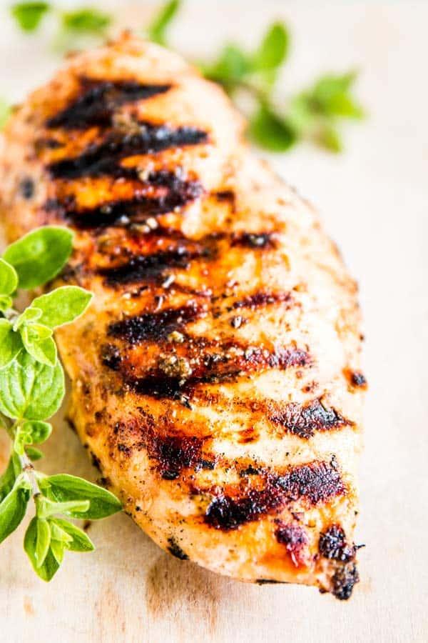 Greek Grilled Chicken with fresh oregano