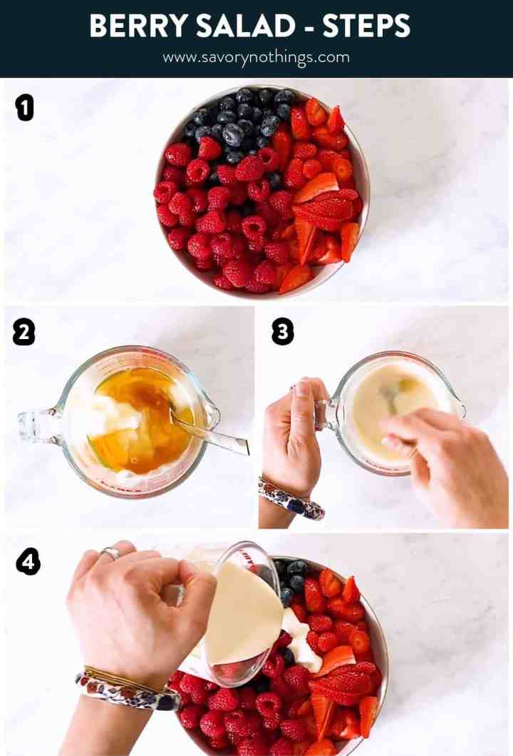 steps to make berry salad