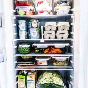 a fully stocked healthy fridge