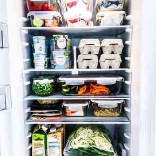 a fully stocked healthy fridge